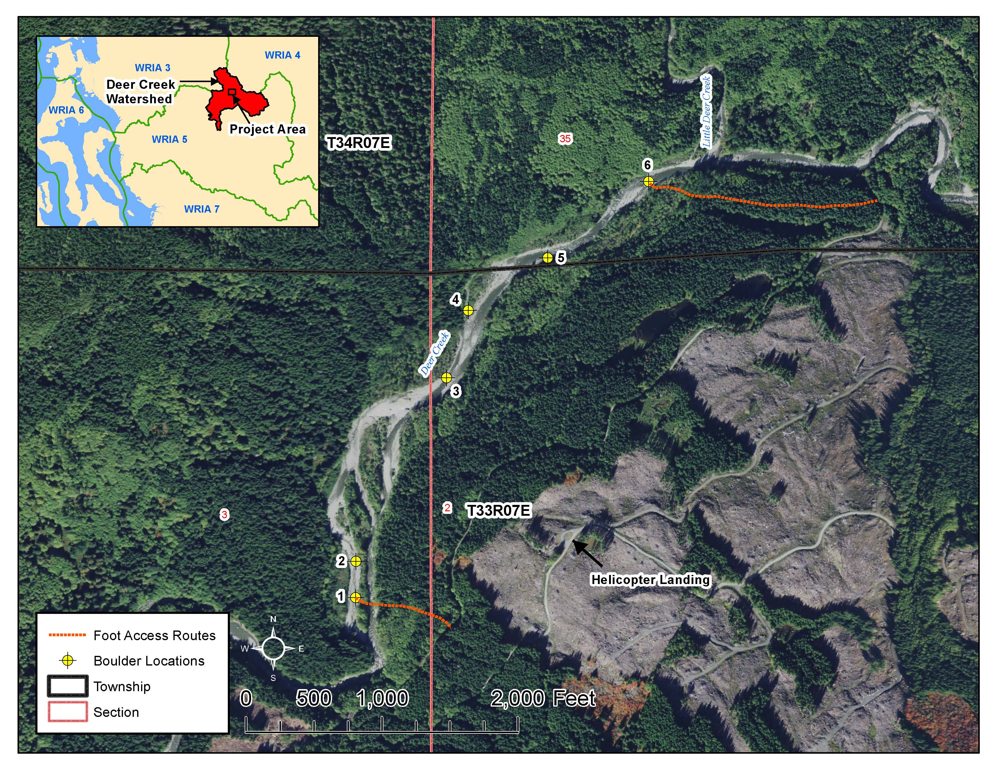 Deer Creek restoration map