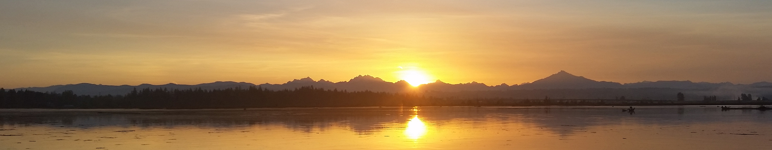 Tulalip Natural Resources Department image of sunrise on the Salish Sea